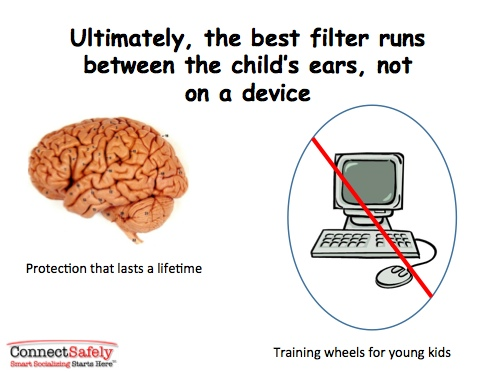 It's the filter that runs between the ears that really matters (Credit: ConnectSafely.org)