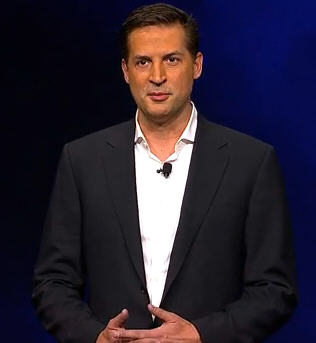 Sony's Gaikai CEO David Perry (screen grab from Sony webcast)