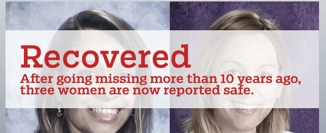National Center for Missing & Exploited Children grateful for recovery of 3 missing women