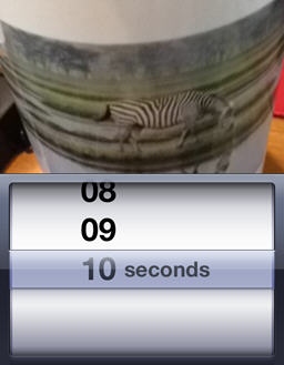 Snapchat lets you set the amount of time before a picture self-destructs between 1 and 10 seconds